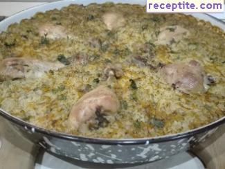 Chicken with rice in the oven