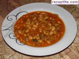 Mutton or shileshko beans in a pressure cooker